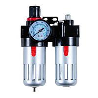 """Блок подготовки воздуха (фильтр, редуктор, манометр, маслообогатитель) 1/4"""" Sigma (7034021)"""