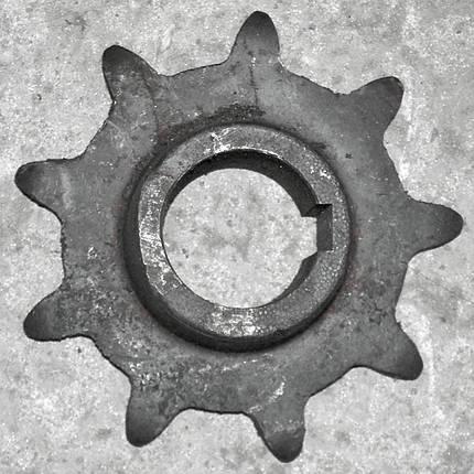Звездочка z=9 t=38,0 под шпонку РСМ-10.08.07.102А -01, фото 2