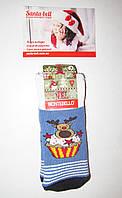 Новогодние носки детские  зимние махровые внутри хлопок Турция размер 1-2года(1), фото 1