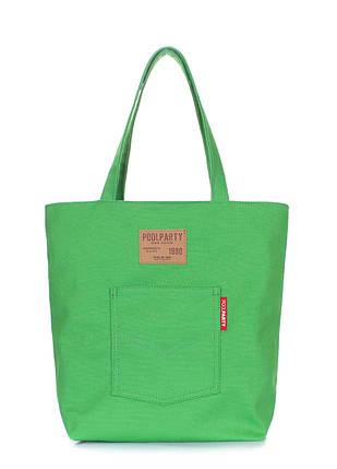 Коттоновая сумка POOLPARTY Arizona, фото 2