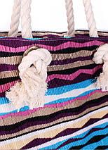 Пляжная вельветовая сумка в полоску POOLPARTY, фото 2