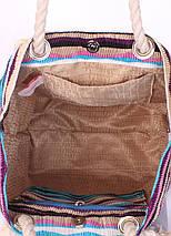 Пляжная вельветовая сумка в полоску POOLPARTY, фото 3