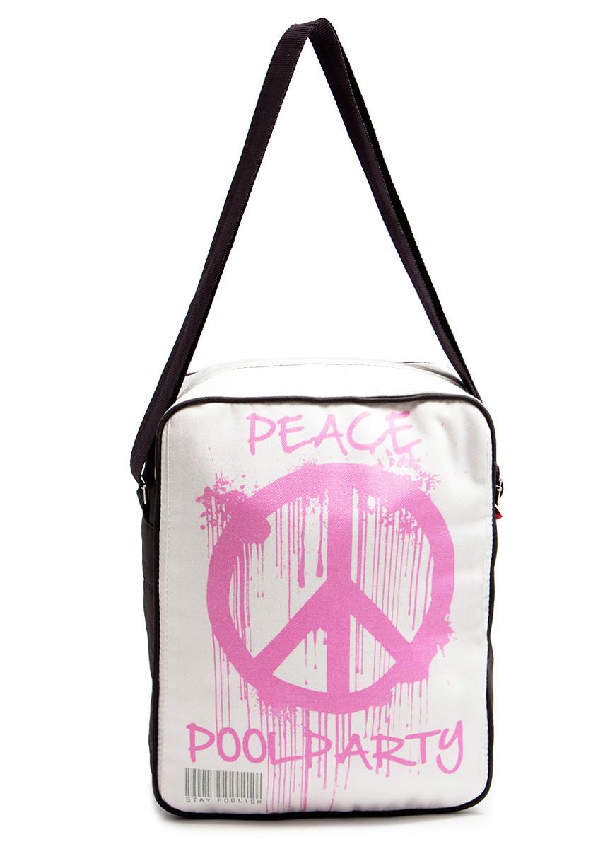 Сумка POOLPARTY Peace с ремнем на плечо