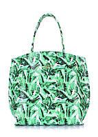 Кожаная сумка Pearl с пальмовым принтом