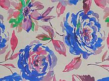 Мебельная ткань для перетяжки дивана Принт Маги фиолет Magi violette