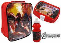 Набор: ланчбокс, контейнер для завтрака и бутылочка Марвел Мстители