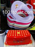 Детская пластиковая накладка на унитаз и ступенька - подставка
