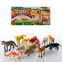 Животные A588-3  дикие, 12шт в кульке, 15-23-5,5см