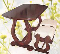 Стол с 4 табуретками Цезарь, фото 1