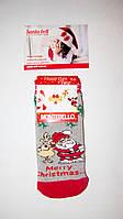 Новогодние носки детские  зимние махровые внутри хлопок Турция размер 10-12лет