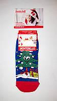 Новогодние носки детские , зимние, махровые внутри, хлопок Турция размер 7-8лет