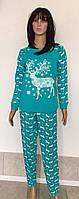 Пижама для беременных кофта и штаны с новогодним принтом 44-54 р, пижамы для беременныхоптом от производителя