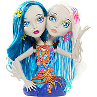 Игровой набор Monster High Пери и Перл голова для причесок (Peri and Pearl Serpentine Styling Head), Mattel
