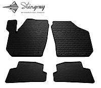 Автомобильные коврики Skoda Fabia II 2007-2015 Комплект из 4-х ковриков Черный в салон
