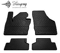 Резиновые коврики Stingray Стингрей Audi Q3 2011- Комплект из 4-х ковриков Черный в салон