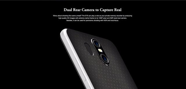 Фотоаппаратура смартфона Homtom S16