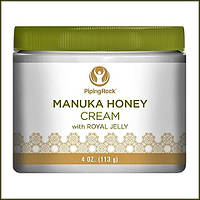 PipingRock Manuka Honey Cream with Royal Jelly 4 oz (113 g) Jar