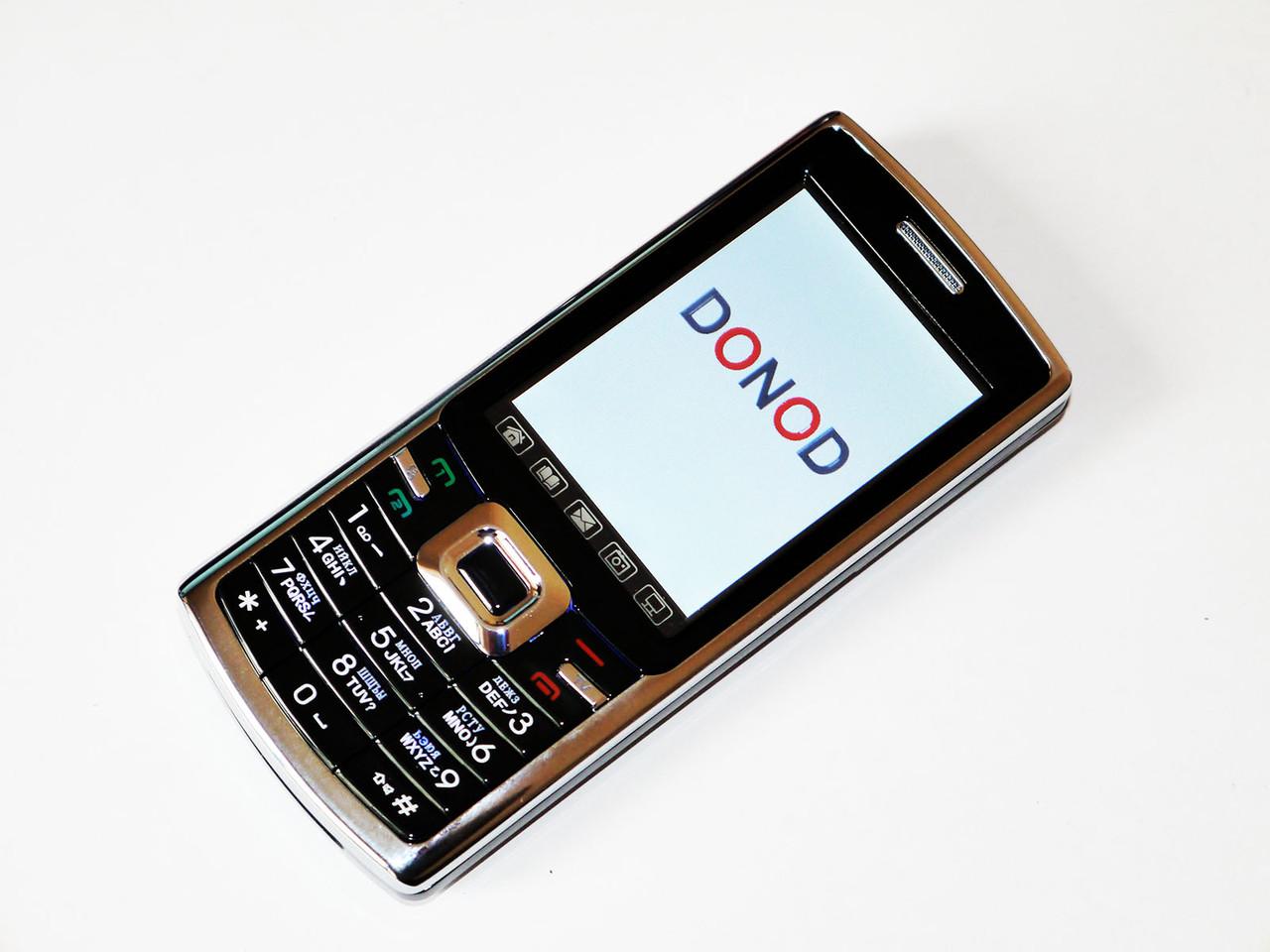 """Телефон DONOD D802 TV - 2Sim + 2,4"""" сенсорный экран + Camera + FM +BT - метал.корпус"""