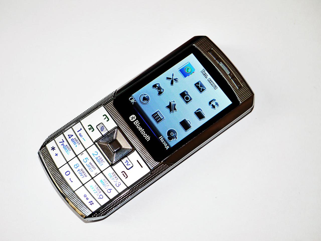 """Телефон DONOD D905  - 2 sim - 2.2"""" - TV - FM - BT  -Cam- металлический корпус"""