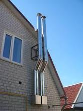 Труба из нержавеющей стали с теплоизоляцией в оцинкованном корпусе, фото 3