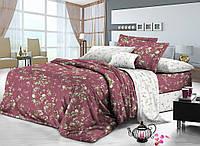 Двуспальный комплект постельного белья евро 200*220 сатин (8156) TM KRISPOL Украина
