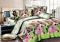 Двуспальный комплект постельного белья евро 200*220 сатин (6999) TM KRISPOL Украина