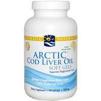 Рыбий жир из печени арктической трески со вкусом лимона Nordic Naturals 1000 мг 180 гелевых капсул
