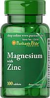 Витамины и Минералы Puritan's Pride MAGNESIUM with ZINC (100 Tab)