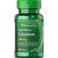 Витамины и Минералы Puritan's Pride Selenium 200 mcg (100 Tab)