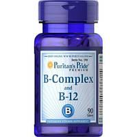 Витамины и Минералы Puritan's Pride B-Complex + B-12 - 90 tabs