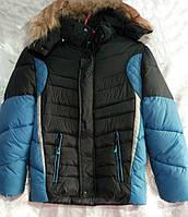 Куртка зимняя спорт на мальчика р.32-40 (122-146)