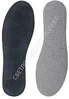 Стельки KROK, кожа на кожкартоне, черная, р.42, фото 1