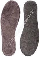 Стельки KROK, мех натуральный на войлоке, коричневый, фото 1