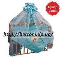 Детский постельный комплект для новорожденных Зайка