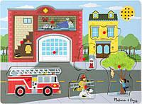 Звуковой пазл Melissa Doug Пожарная часть MD10736