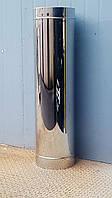 Труба дымоходная сэндвич нержавеющая утепленная AISI-304 0,8мм d 200мм h 1000мм