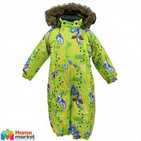 Kомбинезон зимний для мальчика HUPPA KEIRA 31920030, цвет lime pattern 72147