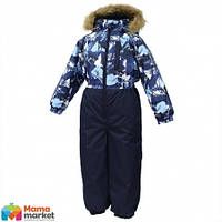 Kомбинезон зимний для мальчика HUPPA WILLY 31900030, цвет navy pattern/ navy 72586