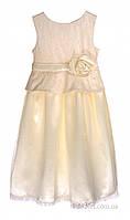Праздничное платье для девочки Garden Baby 45064-28 р.86 шампань