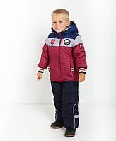 Детский зимний комбинезон (штаны на шлейках и куртка) с капюшоном Бенеттон Нью 1, новинка зима 2017