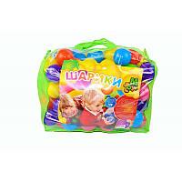 Шарики для сухого бассейна большие мягкие 100 шт.  в сумке   M- toys