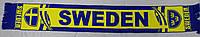 Шарф фанатский тканевой с символикой сборной Швеции