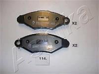 Комплект тормозных колодок, дисковый тормоз (производитель ASHIKA) 50-01-114