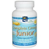 Рыбий жир для детей, Nordic Naturals, Омега 3 6 9, Лимонный вкус, 500 мг, 90 жевательных капсул
