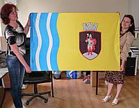 Прапор міста Канева двосторонній розміром 1000х1500мм, прапорна тканина, прошив, люверси для флагштока