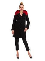 Пальто зимнее с контрастным мехом, 42-50р