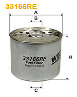 Фильтр топлива DAF, IVECO, VOLVO (TRUCK) 33166RE/PM819 (производитель WIX-Filtron) 33166RE