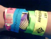 Нанесение логотипа на контрольные браслеты (1 цвет, шелкотрафарет)