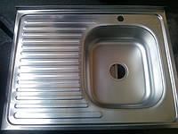 Кухонная накладная мойка Asil (0,7мм) 60х80см микро-декор.
