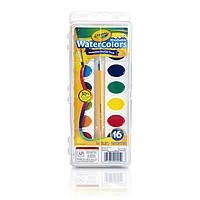 Разноцветные акварельные краски watercolors, в наборе 16 цветов, Crayola (Крайола)